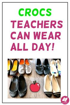 Looking for comfortable, stylish teacher shoes? As an elementary music teacher, you are always up and moving while teaching. Crocs come in some surprisingly cute styles and bring all-day comfort, if you choose the right pairs! Read to find out how different Crocs stack up in durability, versatility, and comfort! Teacher Shoes, Teacher Wear, Crocs Boots, Clown Shoes, Middle School Music, My Favourite Teacher, Work Flats, Primary Music, Lace Sneakers