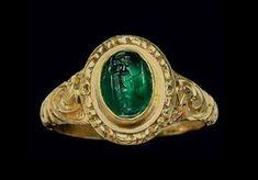 A Roman plasma ringstone. Circa 2nd century A.D.