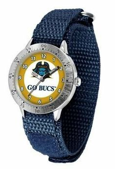 East Tennessee Bucs Youth Watch Velcro Strap Watch by SunTime. $29.95. Kids & Toddlers. Velcro Strap. Officially Licensed ETSU Buccaneers Youth Watch. Stainless Steel Back. Adjustable Band. East Tennessee Bucs Youth Watch Velcro Strap Watch. The metal alloy case is light weight with a stainless steel back and a sporty adjustable Velcro strap for the perfect, comfort youth fit. The Buccaneers large team logo creates an eye popping prideful statement. The kid friendly e...