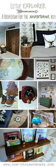 Little Explorer Boy Bedroom | Boy Bedroom Ideas | Boy Nursery theme