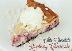 White Chocolate Raspberry Cheesecake - YUM!