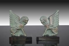 Art deco Pegasus G.H. Laurent bookends