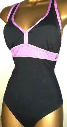 New Womens Marks /& Spencer Blue Purple Black Swimming Costume Size 16 14 10