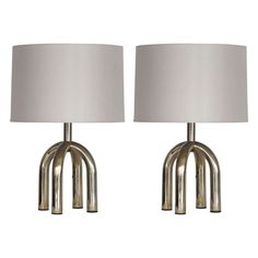 petite italian brass table lamps.