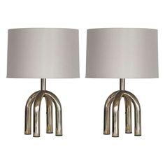 petite italian brass table lamps.