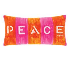 Cathie Maney Free Spirit 30x60cm Filled Cushion Orange