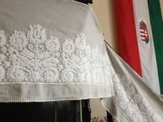 hand embroidered church linens