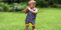 Mokopu reversible romper made from South African shweshwe African, Rompers, Cool Stuff, Baby, Clothes, Collection, Outfits, Clothing, Romper Clothing