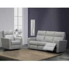 Elran 4013 Reclining Sofa And Chair In Grey Slate