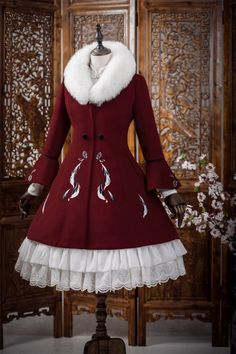 South Deer -The Fragrance of Plume- Plume Embroideries Lolita Winter Coat - Sou. - South Deer -The Fragrance of Plume- Plume Embroideries Lolita Winter Coat – South Deer -The Fragrance of Plume- Plume Embroideries Lolita Winter Coat – Source by - Pretty Outfits, Pretty Dresses, Beautiful Outfits, Cool Outfits, Scene Outfits, Kawaii Fashion, Lolita Fashion, Cute Fashion, Rock Fashion