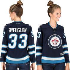 Dustin Byfuglien Winnipeg Jets Reebok Womens Premier Player NHL Jersey – Navy Blue