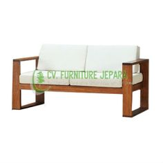 sofa 2 seater teak wood Indonesian #teak #sofa #indonesia #furniture