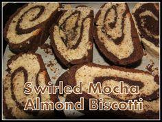 Swirled Mocha Almond #Biscotti #recipe by: http://www.godsgrowinggarden.com/2016/12/swirled-mocha-almond-biscotti-recipe.html