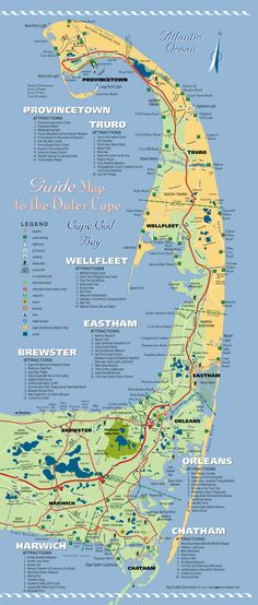 on cape cod beaches map