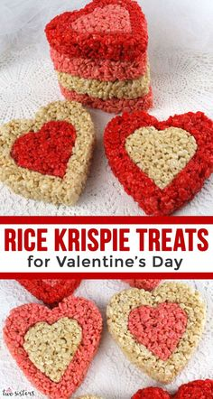 Rice Krispie treats for Valentine& Day - colorful, festive and delicious - a variety . - Rice Krispie treats for Valentine& Day – colorful, festive and delicious – a Va …, - Valentines Day Dinner, Valentines Day Desserts, Valentines Day Decorations, Valentines For Kids, Valentine Ideas, Rice Crispy Treats, Krispie Treats, Rice Krispies, Desserts Valentinstag