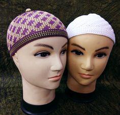 2 Muslim Koofi Cap Stretchy Soft Polyester Prayer Men Hat Kufi Kofi Free  Size .   af630b36afa7
