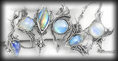 Lunarieen | Fantasy Handmade Jewellery | Silver and Gemstone Jewellery Wire Wrapped Jewelry, Metal Jewelry, Gemstone Jewelry, Silver Jewelry, Jewelry Crafts, Jewelry Art, Jewelry Design, Jewlery, Wire Crafts