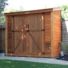 W x 4 ft. D Solid Wood Lean-To Tool Shed Outdoor Living Today SpaceSaver 8 ft. W x 4 ft. D Solid Wood Lean-To Tool Shed Lean To Shed Plans, Wood Shed Plans, Free Shed Plans, Shed Building Plans, Building Ideas, Building Design, Backyard Sheds, Outdoor Sheds, Indoor Outdoor