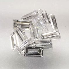 0.058ct Straight Baguette Cut F Color SI2 Clarity 3.25x1.65x1.25mm Loose Diamond