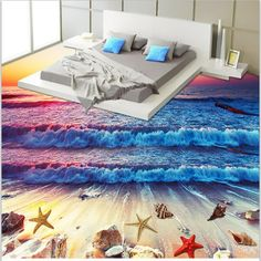 3d Floor Art, Floor Murals, Floor Decal, Wall Murals, 3d Wallpaper For Walls, Floor Wallpaper, Pattern Wallpaper, Sunset Wallpaper, Custom Wallpaper