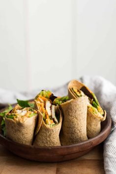 Hummus Wrap with Halloumi and Greens