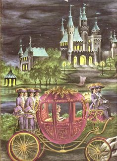 On The Way To The Ball from Cinderella, An Old Favorite With New pictures,illustrated by Ruth Ives,1954.