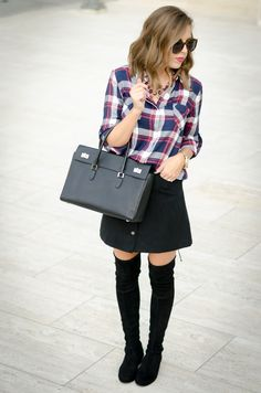 @kateireneblue wears the check shirt - http://www.oasis-stores.com/checked-shirt/tops/oasis/fcp-product/5543461?cm_re=Social-_-Feature-_-Blogger-_-ForTheLoveOfFancy