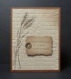 by Reddyisco - Cards and Paper Crafts at Splitcoaststampers nice sympathy card Masculine Birthday Cards, Birthday Cards For Men, Handmade Birthday Cards, Masculine Cards, Greeting Cards Handmade, Male Birthday, Birthday Ideas, Boy Cards, Embossed Cards