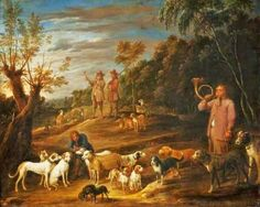 David Teniers the Younger (1610-1690) Landscape with Huntsmen