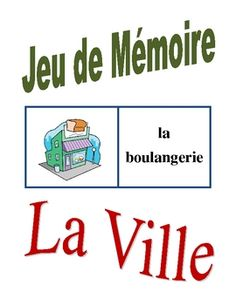 Memory Game with City Places in French (Can be used for Flashcards)