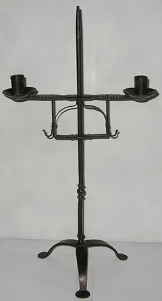 Incredible Primitive Hand Forged Iron ADJUSTABLE CANDLE HOLDER Blacksmith Made  ~~~  SOLD!!