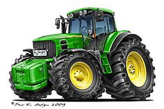 John Deere Toys, John Deere Tractors, Tractor Decor, Tractor Drawing, Spongebob Drawings, Small Tractors, Truck Coloring Pages, Farm Logo, Kenworth Trucks