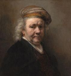 Rembrandt van Rijn, Zelfportret, 1669, olieverf op doek, 65.4 x 60.2 cm, Mauritshuis, Den Haag