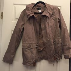 J.Crew Taupe Jacket Taupe J.Crew jacket. Worn only lightly in great condition. J. Crew Jackets & Coats