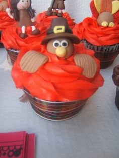 Thanksgiving cupcakes by Isabella's sweet tooth (johanna), via Flickr