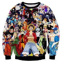 Anime Characters Sweatshirt - OtakuForest.com
