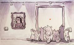 Meanwhile at the cat museum...