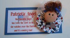 Patriotic (American)  Angel Magnet or Pin
