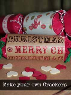 Making your own christmas crackers - Yellow Days - Idea for art club - Diy Christmas Crackers Diy Projects For Adults, Easy Crafts For Kids, Preschool Christmas Crafts, Christmas Projects, Toddler Christmas, Christmas Holidays, White Christmas, Christmas Decor, Holiday Decor