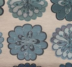 "56"" Wide Blossom Flower Sky Jacquards upholstery Drapery Sofa Fabric per yard"