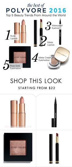 """Check out the Top Beauty Trends of 2016 in The Best of Polyvore Report"" by polyvore ❤ liked on Polyvore featuring Charlotte Tilbury, Stila, Bobbi Brown Cosmetics, Gucci and Dolce&Gabbana"
