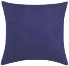 4 Royal Blue Suede Pillow Set Includes: 2 - 18 in. Sq. Pillows | 2 - 14 in. Sq. Pillows $85.00