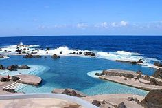 The 13 Best Most Insanely Gorgeous Pools In The World  #refinery29  http://www.refinery29.com/best-pools#slide9  The Natural Pools Of Porto Moniz, Madeira Even though they look pristinely manmade, these volcanically formed pools fill with warm ocean water, and were formed by naturally occurring volcanic rock. The pools here have somehow remained relatively remote, even with the addition of changing rooms, lockers, showers, a restaurant, and a crew of lifeguards on duty at all times.