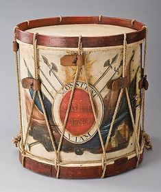 1836 American (Massachusetts) Side drum at the Metropolitan Museum of Art, New York