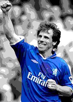 Gianfranco Zola - Chelsea FC Legend - one of the greatest players to ever of step foot of the stamford bridge ground Best Football Team, Chelsea Football, Football Soccer, Football Shirts, Club Chelsea, Chelsea Fans, John Terry, Gianfranco Zola, Chelsea Fc Players