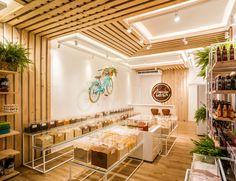 Bakery Shop Design, Shop Interior Design, Cafe Design, Retail Design, Store Design, Nosara, Supermarket Design, Fruit Shop, False Ceiling Design