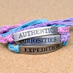 These easy friendship bracelets are made with scrapbooking supplies!  Tim Holtz Word Bands become wearable accessories in this tutorial.