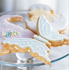 Coconut Shortbread Cookies with Creamy Butter Frosting (Williams Sonoma). Pretty.