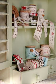 cotton ribbon, tape, trim