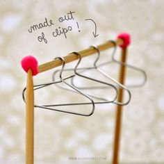 DIY Mini Hangers   Cool DIY Scrapbook Ideas You Have To Try